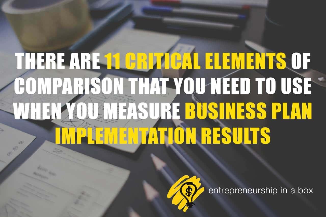 11 elements measure business plan implementation results
