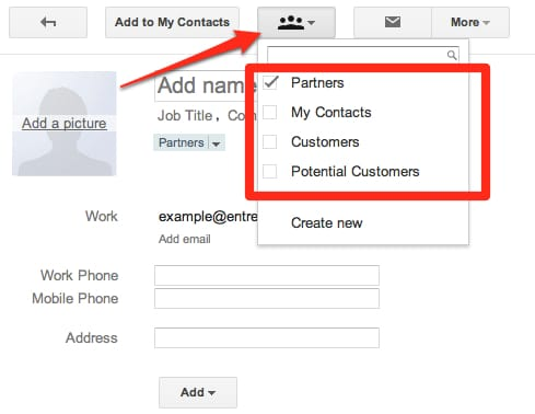Adding Contact in Specific Group or Segment
