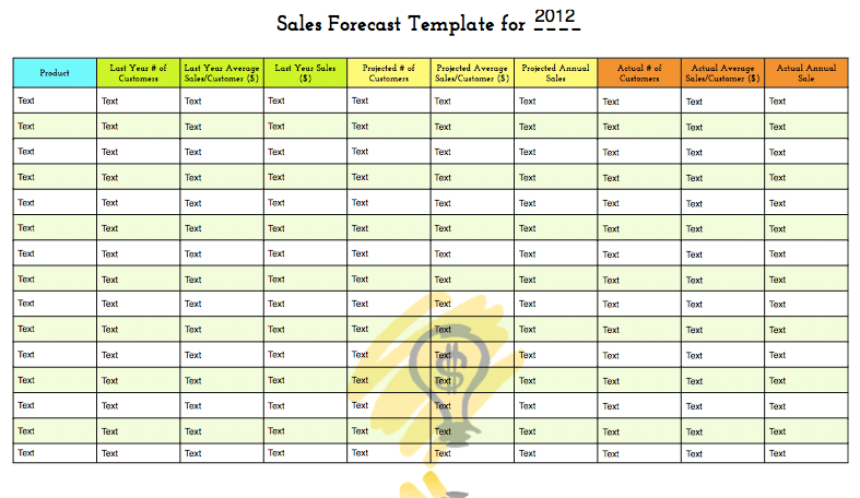 Sales forecast template free download for your predicions for Sales projection template free download
