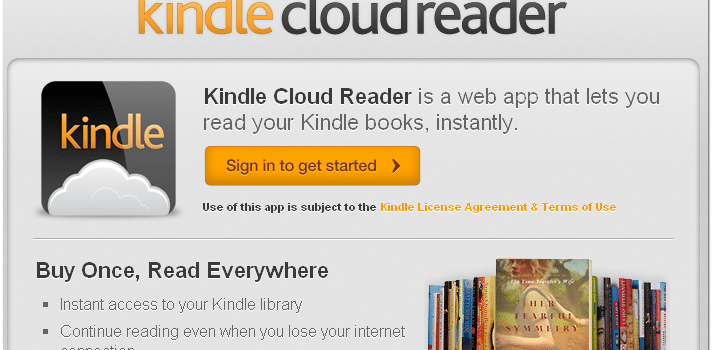 Kindle Cloud Reader – Looks Great