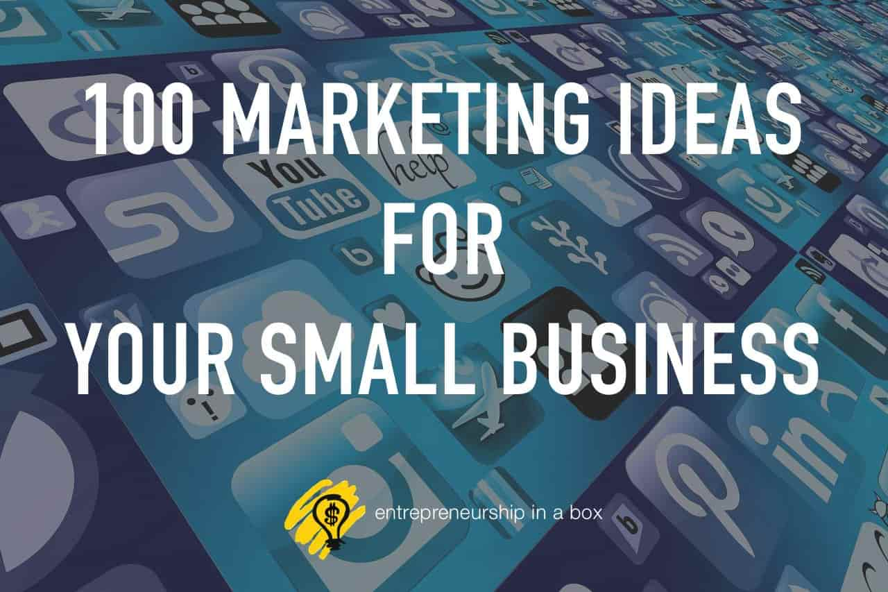 100 marketing ideas
