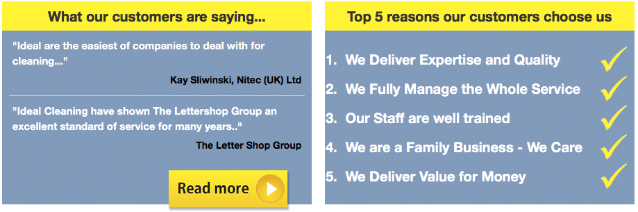 customers want to hear - ideal cleaning services group