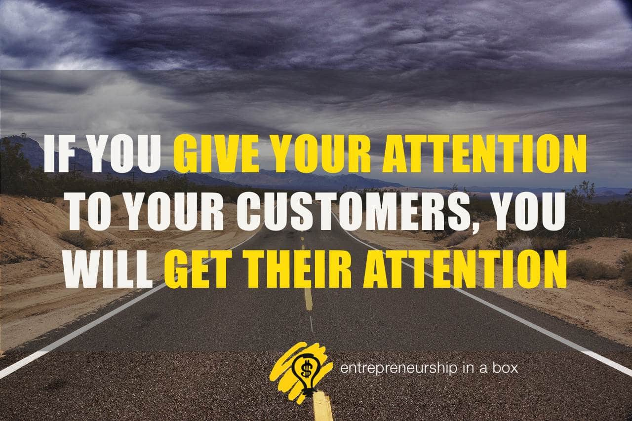 attract customer's attention