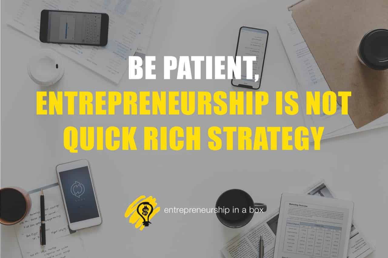 become a successful entrepreneur - patient