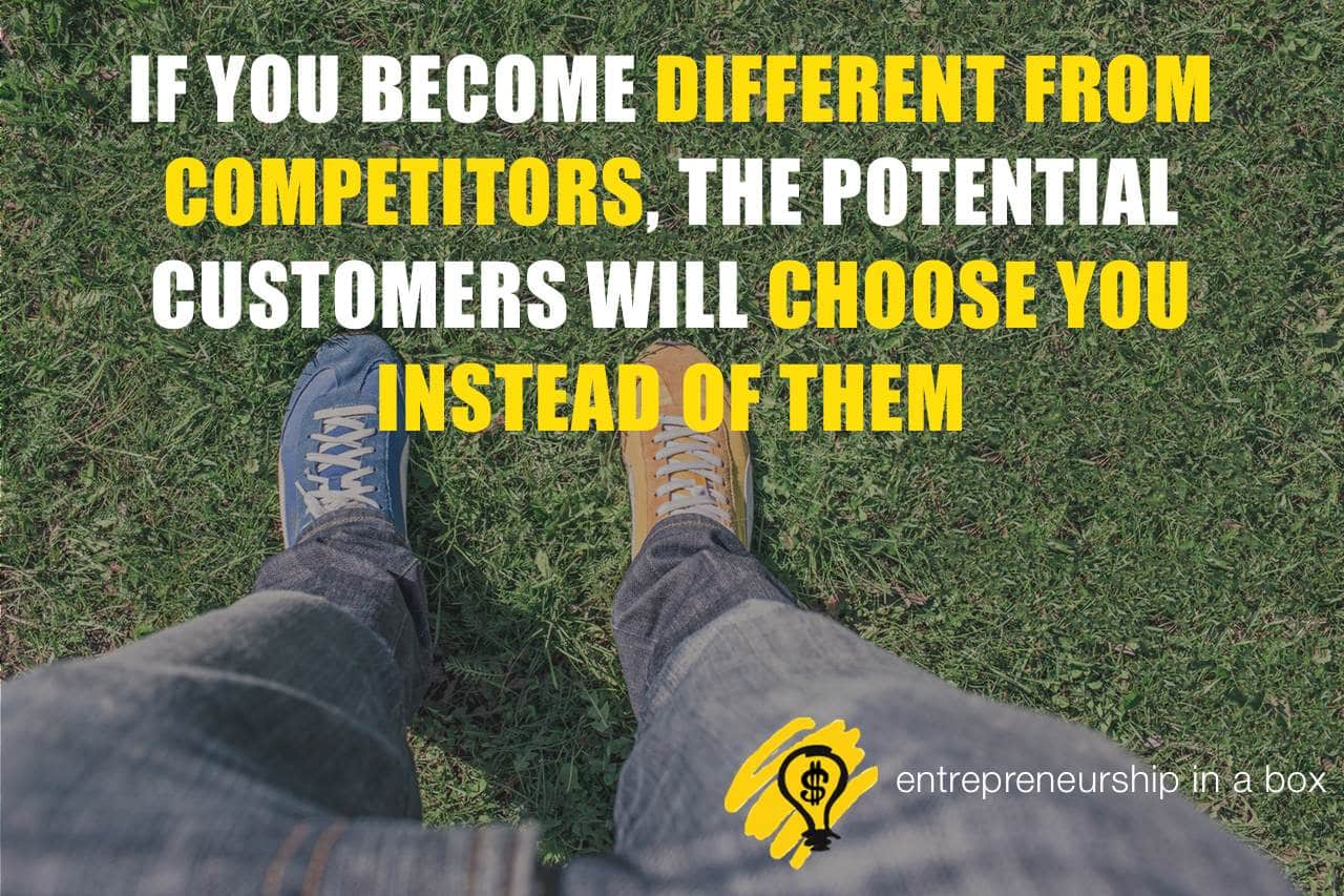 different from competitors customers