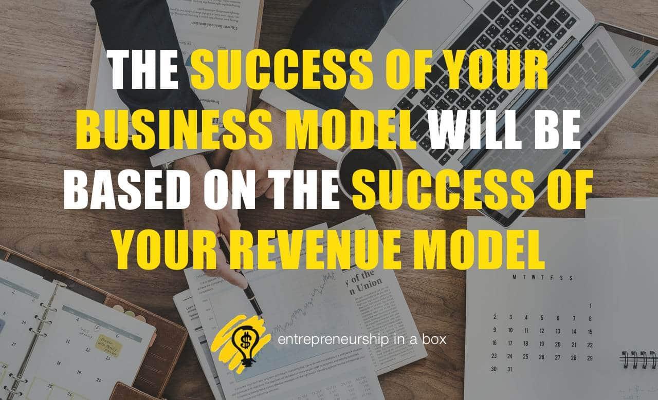 revenue model vs business model